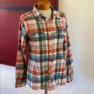 Patagonia organic cotton plaid flannel button-down